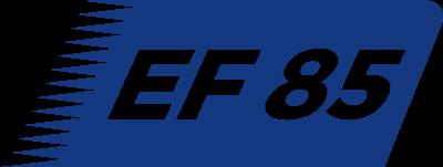 EF 85 - Transports dans toute la France et Europe communautaire 24/24 - 7/7. Logo